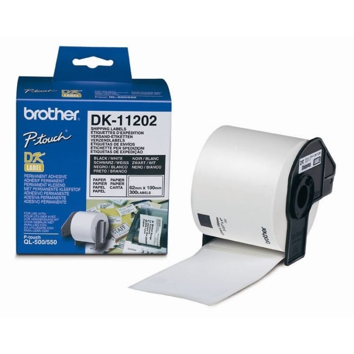 BROTHER SHIPPING LABELS (300 labels)