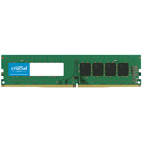 CRUCIAL 16GB DDR4-2666 UDIMM, CL=19, Dual Ranked, x8 based,