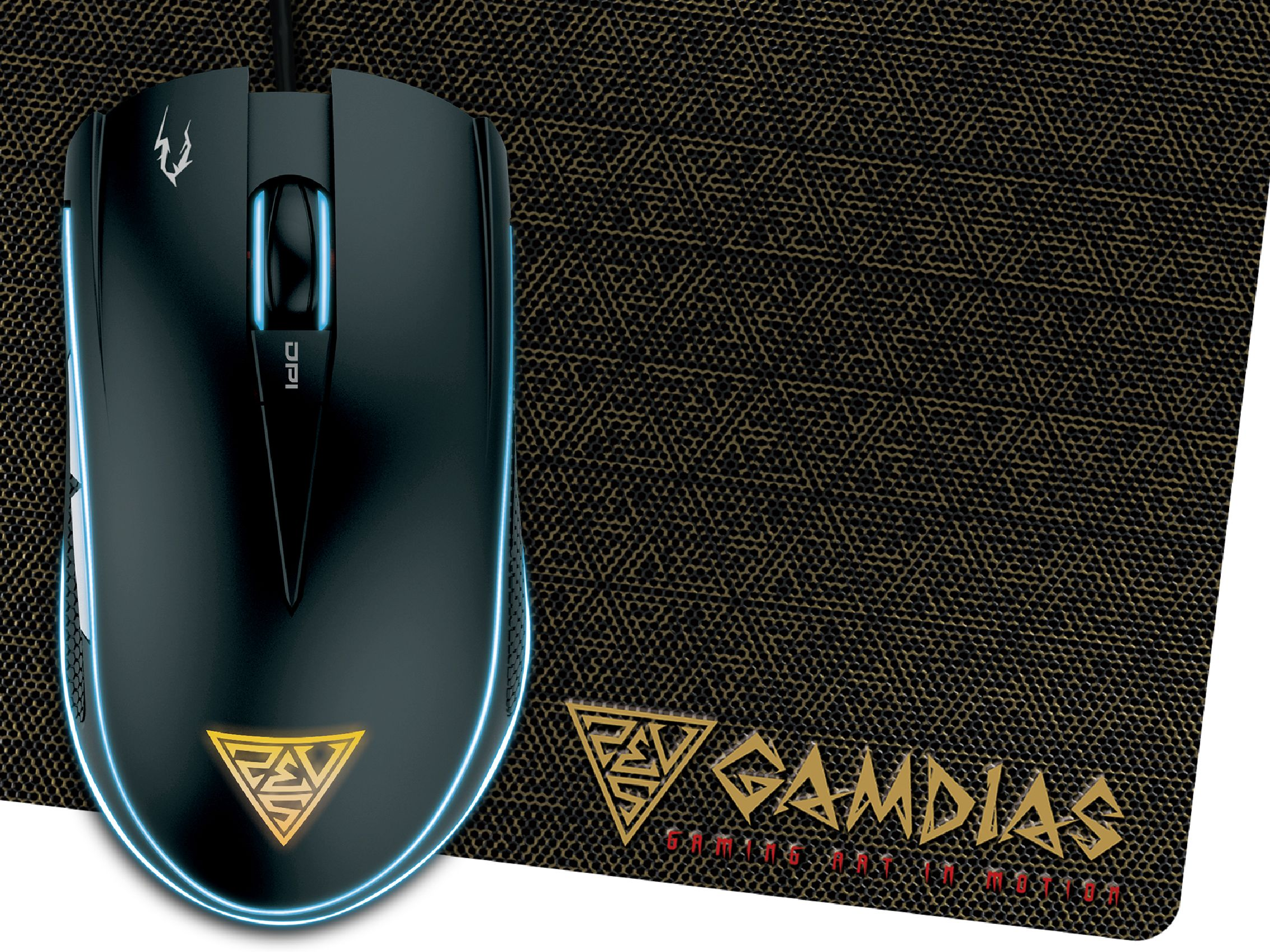 Gamdias Gaming Mouse - ZEUS E1A + PAD NYX E1 - 4200dpi, back